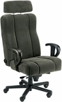 Captain Office Chair with Lumbar Support and Headrest - Leather [OF-CAPT-L-FS-ARE]