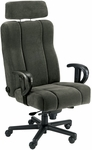 Captain Office Chair with Lumbar Support and Headrest - Leathermate [OF-CAPT-LLM-FS-ARE]
