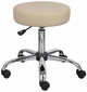 Caressoft Adjustable Height Medical Stool With Chrome