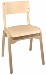 Carlo Armless Stacking Chair - Wood Seat [CARLO-STACKING-CHAIR-FS-HSAG]