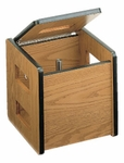 Carry-All Weight Box - Packing Carton with Hinged lid - 14''W X 14''L X 14''H [HAU-8914-FS-HAUS]