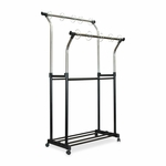 Carson-Dellosa Publishing Double Pocket Chart Stand - 23'' x 25'' - Height 42'' -68'' - CE/BK [CDP158004-FS-SP]