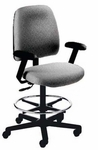 Centris Large Back Mid-Height Drafting Chair - 2 Way Control [CELM2-FS-CRA]