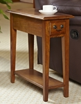 Favorite Finds 10''W x 24''H Chairside Table with One Drawer and Display Shelf - Medium [9017-MED-FS-LCK]
