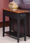 Favorite Finds 10''W x 24''H Chairside Table with One Drawer and Display Shelf - Slate [9017-SL-FS-LCK]