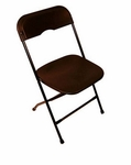 Champ Series Versatile Resin Wedding Folding Chair with Foot Caps - Black [131002-MES]