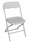 Champ Series Versatile Resin Wedding Folding Chair with Foot Caps - Bright White [131003-MES]