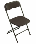 Champ Series Versatile Resin Wedding Folding Chair with Foot Caps - Dark Brown [131034-MES]