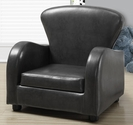 Juvenile Faux Leather Club Chair - Charcoal Gray