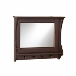 Chelmsford French Inspired 24''W x 6''D x 21''H Entryway Wall Mirror with 4 Hooks [HE4011R-FS-SENT]