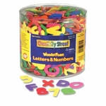 Chenille Kraft Company Wonderfoam Letters/Numbers - Appro x . 1500 Pieces - Assorted [CKC4304-FS-SP]
