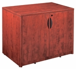 Cherry 2 Door Storage Cabinet with Lock [ML113-CHERRY-FS-MAR]