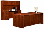Cherry 70.75''W Bow Front Desk with Credenza and Hutch [ML340-CHERRY-FS-MAR]