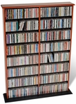 Double Width Wall Storage with 14 Adjustable Shelves - Cherry & Black [CMA-0640-FS-PP]