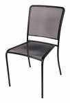Chesapeake Black Stackable Outdoor Micro Mesh Side Chair [SU1300CBL-BFMS]