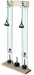 Chest Pulley Weights with Ergonomic Handles - 30''W X 8.5''L X 63''H [HAU-2626-FS-HAUS]