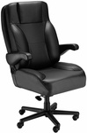 Chief Contoured Seat Office Chair with Padded Headrest- Fabric [OF-CHIEF-F-FS-ARE]
