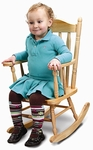 Child's Hardwood Rocking Chair in Clear Non-Toxic Lacquer Finish [WB5533-FS-WBR]