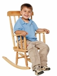 Child's Solid Hardwood Rugged Rocker with Glued and Pinned Dowel Joints - 16.5''W x 23.5''D x 28.5''H [89010-WDD]