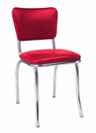 Chrome Side Chair with Upholstered Seat and Back - Grade 4 Vinyl [22-GR4-SAT]