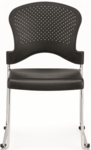 Aire S3000 18'' W x 23'' D x 34'' H Circle Perforated Back Plastic Stack Side Chair - Black [S3000-BLACK-FS-EURO]