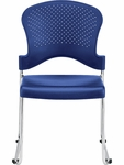 Aire S3000 18'' W x 23'' D x 34'' H Circle Perforated Back Plastic Stack Side Chair - Navy Blue [S3000-NAVY-FS-EURO]