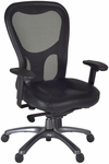 Citi Height Adjustable Mesh Back Executive Swivel Chair with Casters - Black [5100BK-FS-REG]