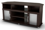 City Life Collection Corner TV Stand Chocolate [4219690-FS-SS]