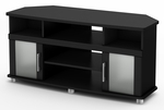 City Life Collection Corner TV Stand Pure Black [4270690-FS-SS]