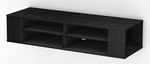 City Life Collection Wall Mounted Media Console Black Oak [4147675-FS-SS]
