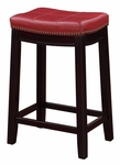 Claridge 24''H Counter Stool - Red [55815RED01U-FS-LIN]