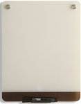 Clarity 12'' W x 16'' D Personal Dry Erase Board - Glass [31120-ICE]