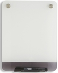 Clarity 9'' W x 12'' D Personal Dry Erase Board - Glass [31110-ICE]