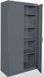 Classic Series 36'' W x 18'' D x 72'' H Storage Cabinets with Adjustable Shelves - Charcoal [CA41-361872-02-EEL]
