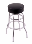 Classic 25'' Chrome Finish Counter Height Swivel Stool with Black Vinyl Seat [C7C125BLKVINYL-FS-HOB]