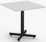 ClassiX 1 Day Quick Ship 36'' x 36'' Square Breakroom Table with Single Column X-Base [1D-CLSX-3636-SPT]