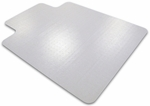 36''W x 48''L Cleartex Advantagemat Anti Static Chair Mat with Lip for Standard Pile Carpets 3/8'' or less [319226LV-FS-FTX]