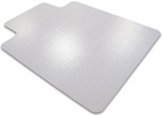 36''W x 48''L Cleartex Advantagemat PVC Rectangular Chairmat with Lip for Plush Pile Carpets Over 3/4'' [119240LV-FS-FTX]
