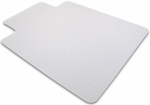 48''W x 53''L Cleartex Polycarbonate Rectangular General Office Mat with Lip for Hard Floors and Carpet Tiles Size [1213419LR-FS-FTX]