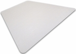 48''W x 60''L Cleartex Ultimat Polycarbonate Corner Workstation Chairmat for Hard Floors and Carpet Tiles [1215019TR-FS-FTX]