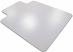 48''W x 53''L Cleartex Ultimat Polycarbonate Lipped Chairmat for Plush Pile Carpets [1113427LR-FS-FTX]
