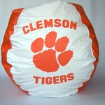 Clemson Tigers Bean Bag Chair [BB-40-CLEMSON-FS-BBB]