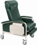 Clinical Recliner with Nylon Casters [6530-FS-WIN]