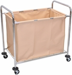 Steel Frame and Canvas Bag Mobile Laundry Cart - 38.5''W x 24.75''D x 36.5''H [HL14-FS-LUX]