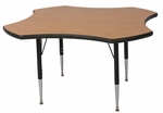Clover Shaped Activity Table with Lotz Armor Edge and Anti-Gum Coated Phenolic Backer - 23.25''-32.25''H [ACT7250-NSL]
