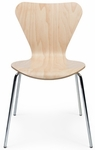 Clover Steel Frame Stacking Chair - Maple [CL-4-065-FS-ADI]