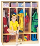 Coat Locker with Step - 5 Sections [0468JC-JON]