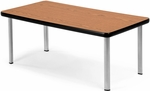Magazine Table with Four Silver Legs - Cherry [ET2040-CHY-SLG-FS-MFO]