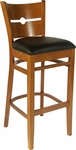 Coin Back Bar Stool in Cherry Wood Finish [HTG-002-32-CHY-HC]
