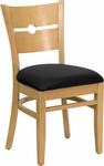 Coin Back Side Chair in Natural Wood Finish [HTG-001-32-NAT-HC]